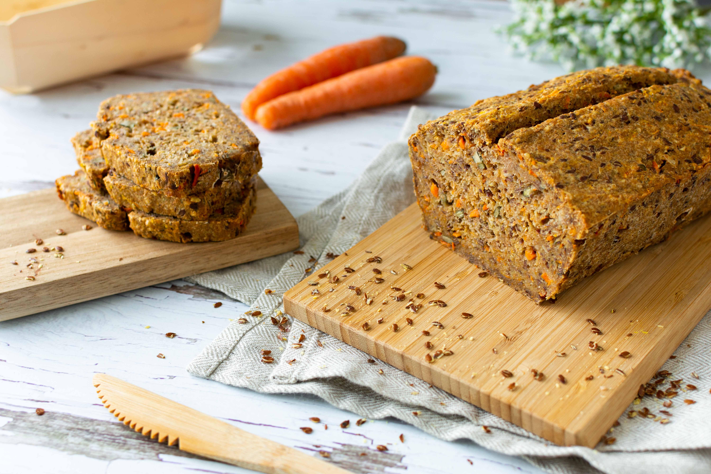 Dinkel-Karotten-Körner-Brot Vollkorn gesund