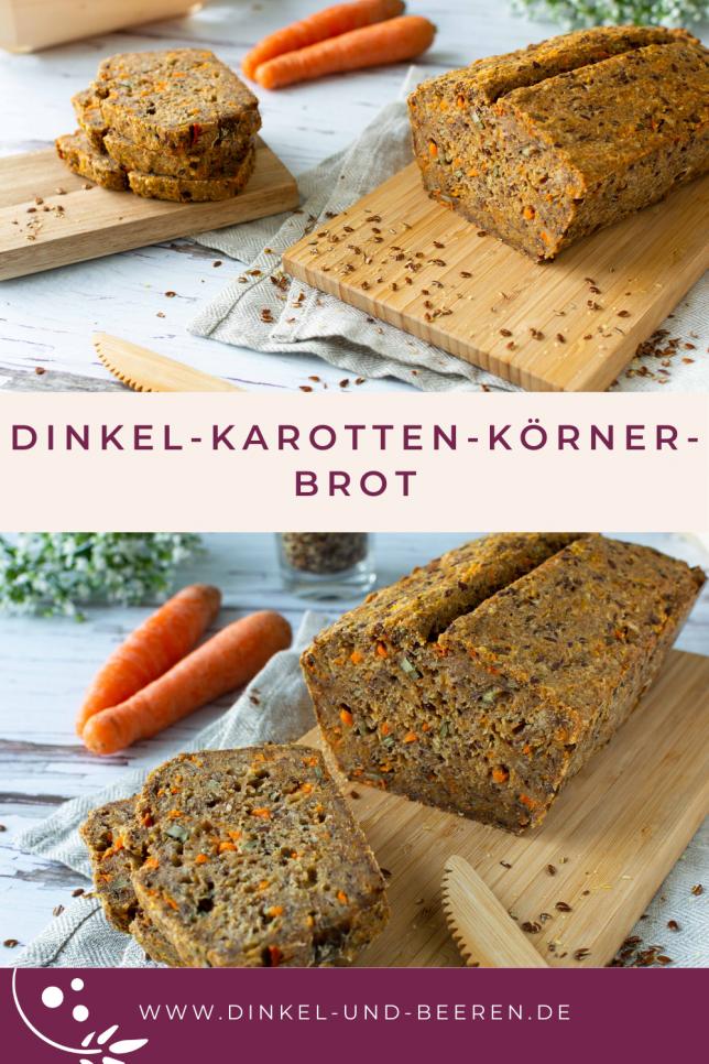 Dinkel-Karotten-Körner-Brot