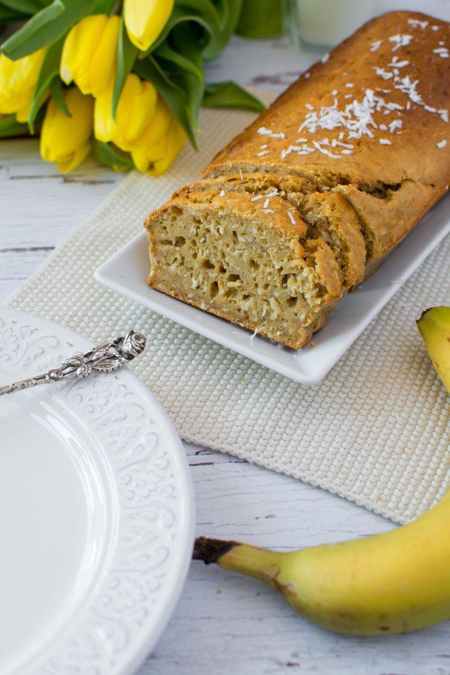 Bananen Kokos Kuchen zuckerfrei gesund