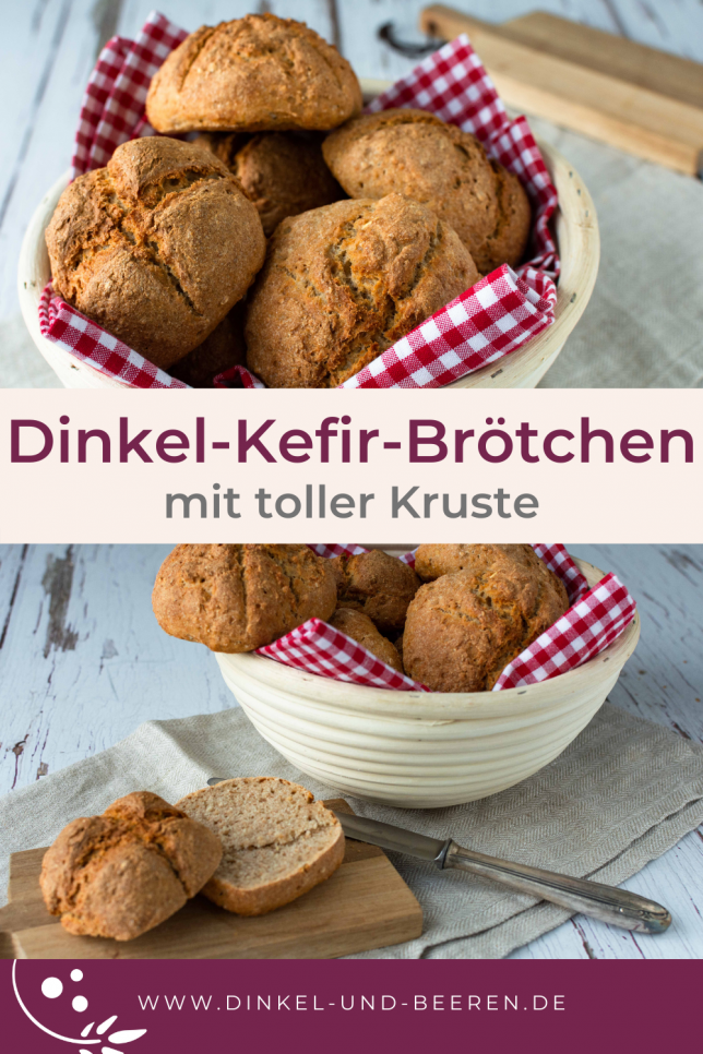 Dinkel-Kefir-Brötchen Vollkorn gesund