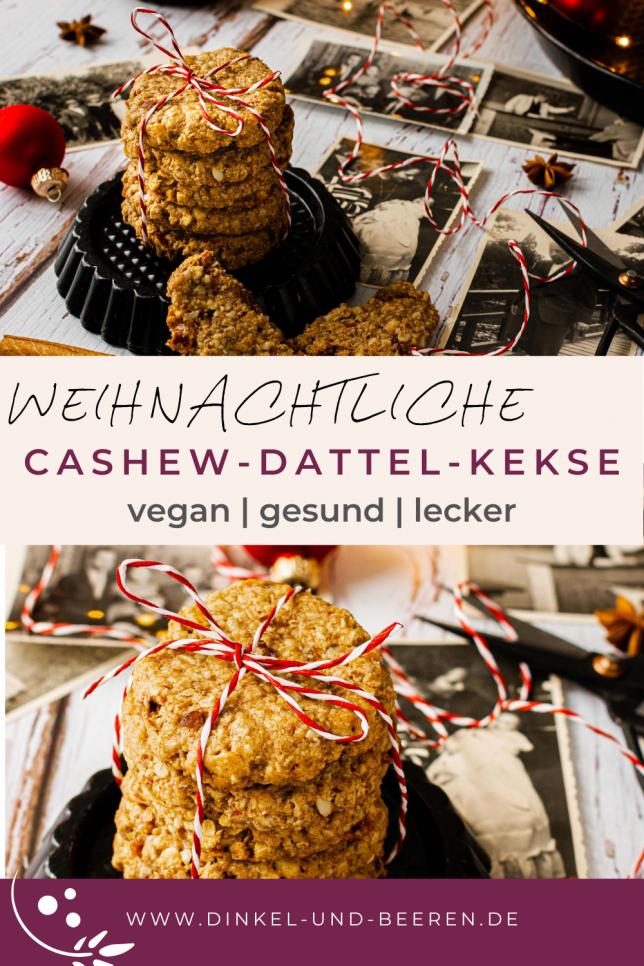 Cashew-Dattel-Kekse gesund vegan glutenfrei