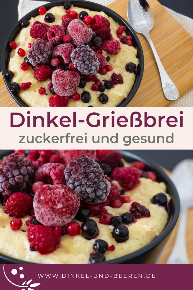 Dinkel-Grießbrei Vanille gesund zuckerfrei