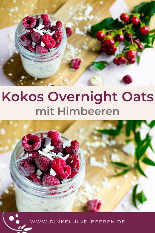 Kokos Overnight Oats Himbeeren gesund