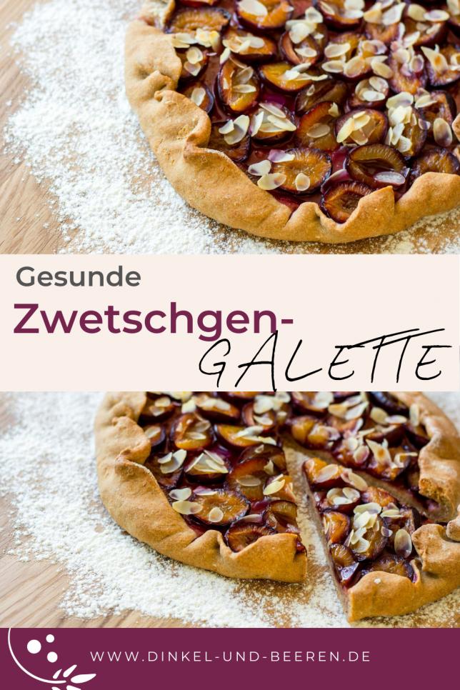 Zwetschgen-Galette gesund Dinkel Vollkorn zuckerfrei