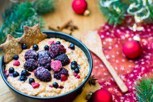 Lebkuchen Porridge gesundes Frühstück Weihnachten