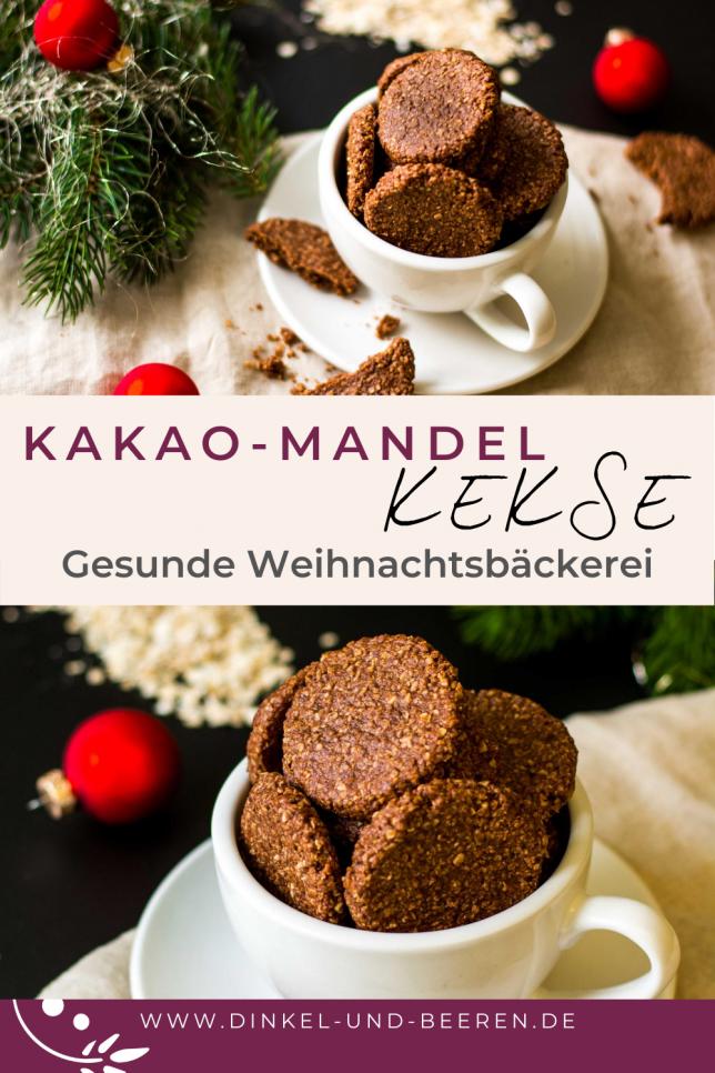 Kakao-Mandel-Kekse gesund Weihnachten vegan