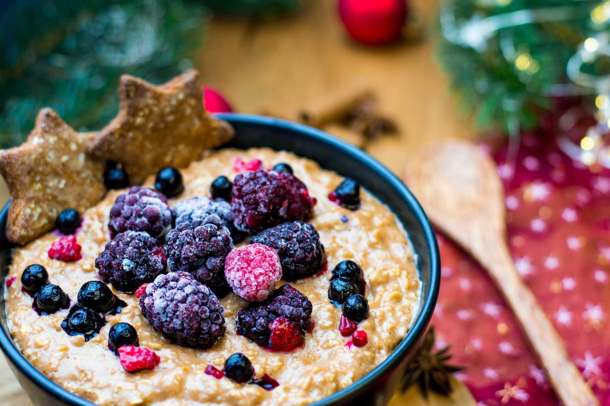 Lebkuchen Porridge gesundes Frühstück Advent