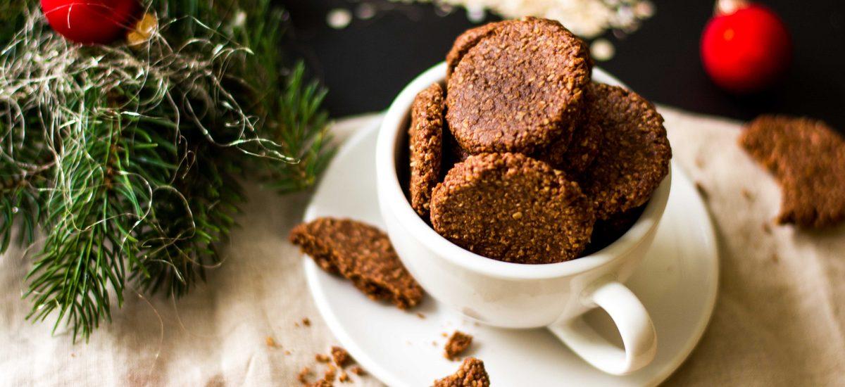 Kakao-Mandel-Kekse mit Haferflocken