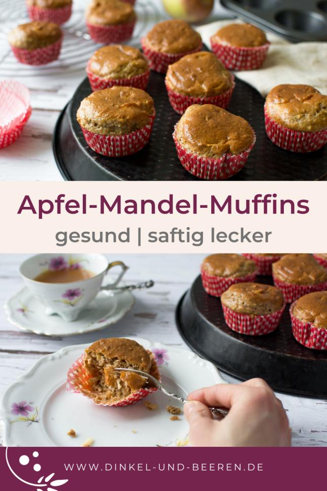 Apfel Mandel Muffins gesund zuckerfrei