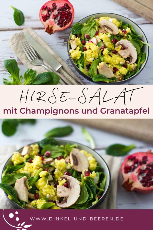 Hirsesalat Champignons Granatapfel