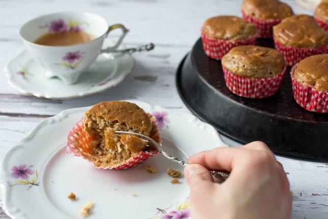 Apfel-Mandel-Muffins zuckerfrei gesund