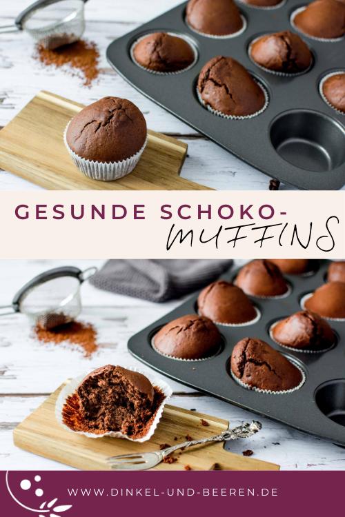 Gesunde Schoko-Muffins zuckerfrei