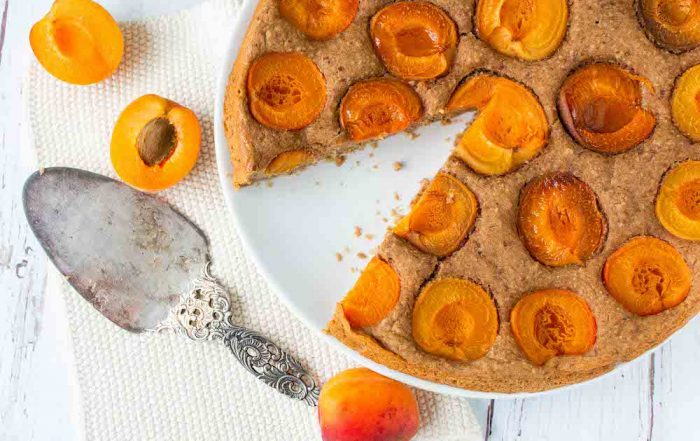 Vollkorn Aprikosen Kuchen gesund vegan zuckerfrei