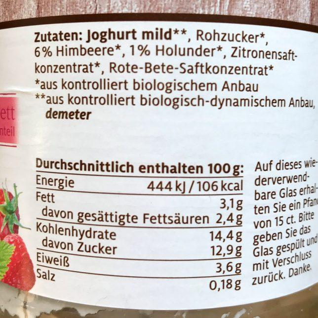 Zucker Nährwertangaben davon Zucker Zutatenliste