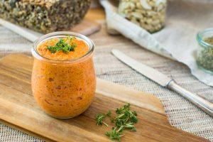 Paprika-Cashew-Aufstrich gesund vegan