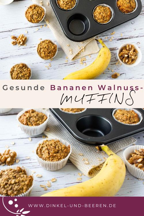 Bananen-Walnuss-Muffins gesund