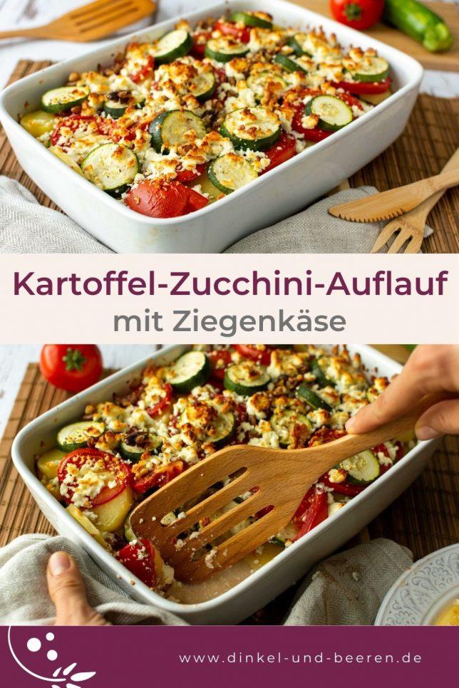 Kartoffel Zucchini Auflauf Tomaten Ziegenkäse