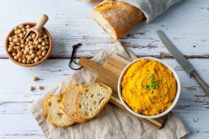 Kürbis-Kichererbsen-Aufstrich gesund vegan glutenfrei
