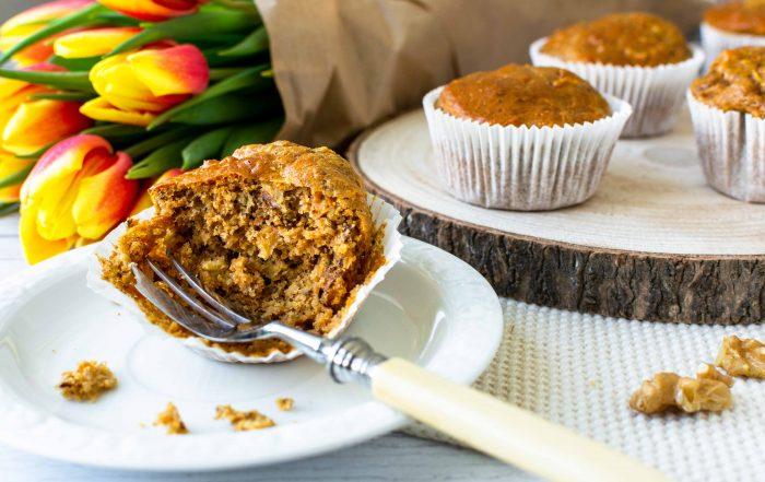 Gesunde Apfel-Möhren-Muffins