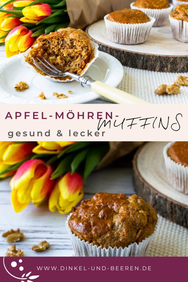 Apfel-Möhren-Muffins mit Nüssen gesund