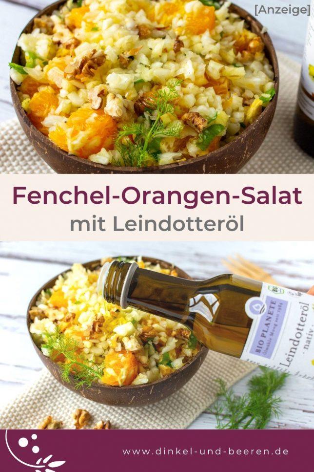 Fenchel-Orangen-Salat mit Leindotteröl von Bio Planète