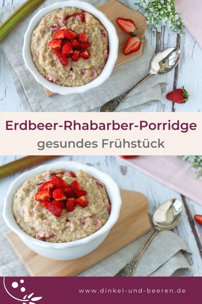 Erdbeer-Rhabarber-Porridge gesund