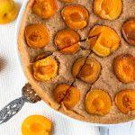 Vollkorn-Aprikosen-Kuchen vegan gesund zuckerfrei