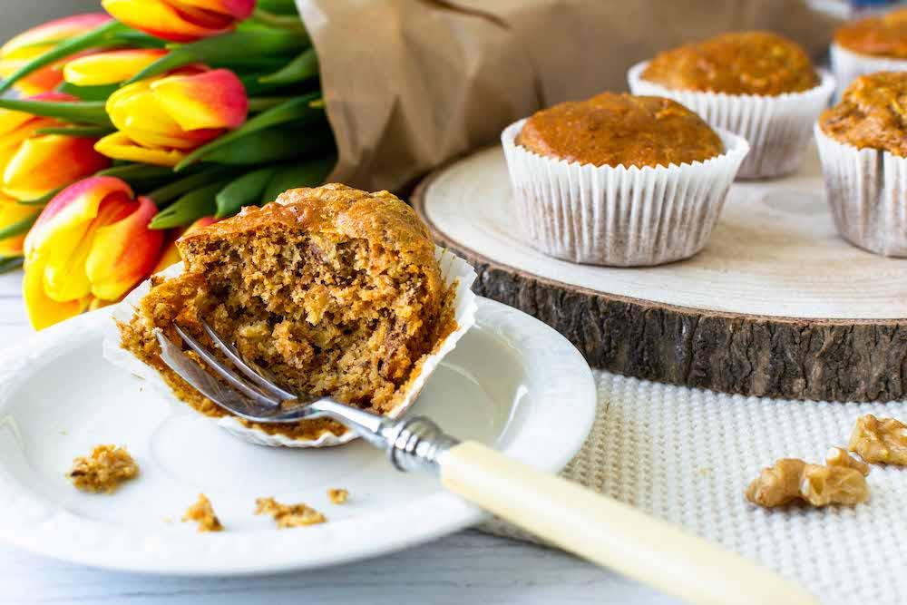 Apfel-Möhren-Muffins gesund industriezuckerfrei