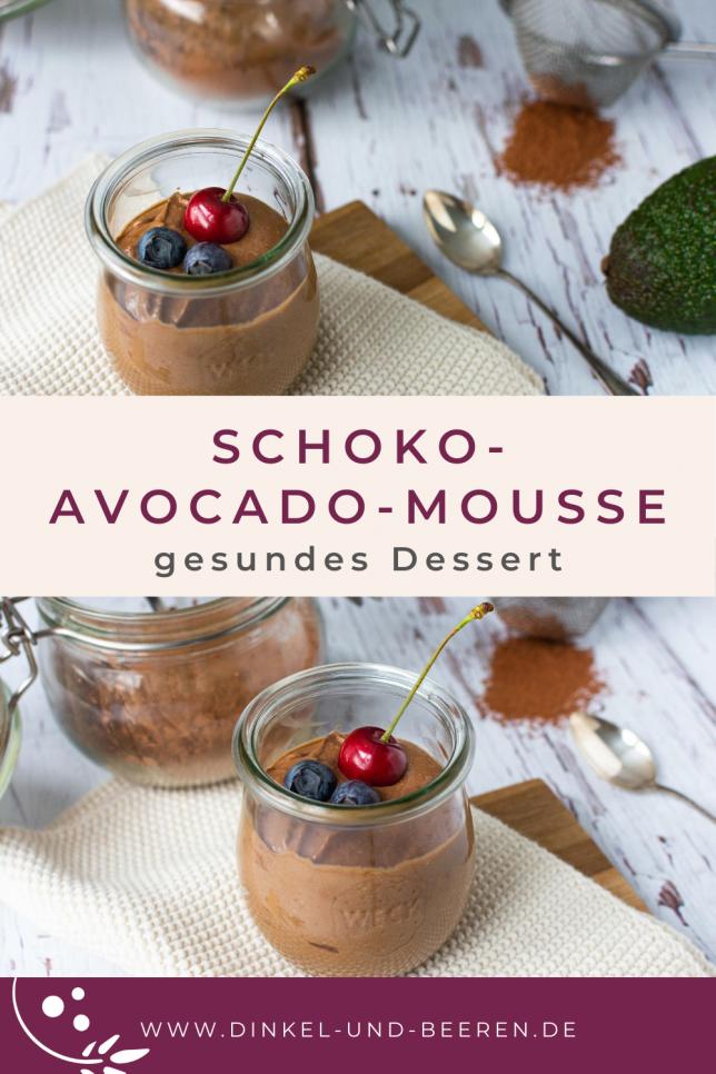 Schoko-Avocado-Mousse gesund vegan glutenfrei