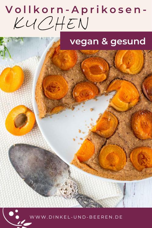 Vollkorn Aprikosen Kuchen vegan gesund zuckerfrei