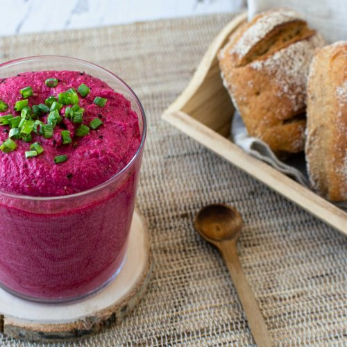 Rote Bete Feta Dip gesund schnell vegetarisch glutenfrei Aufstrich