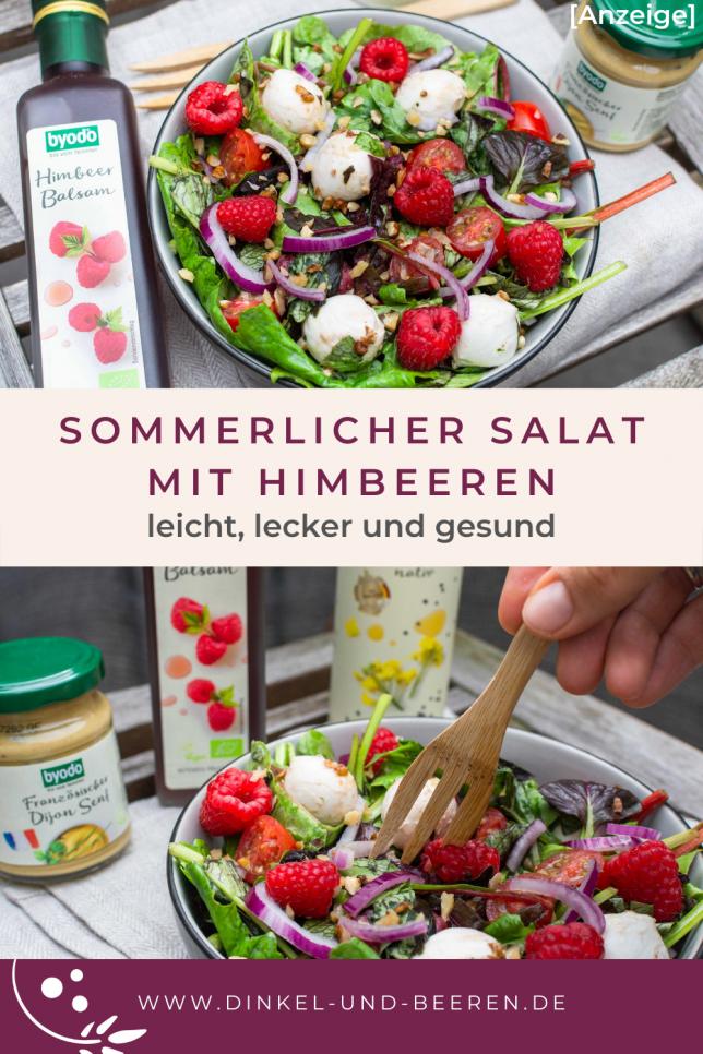 Sommerlicher Salat mit Himbeeren Byodo