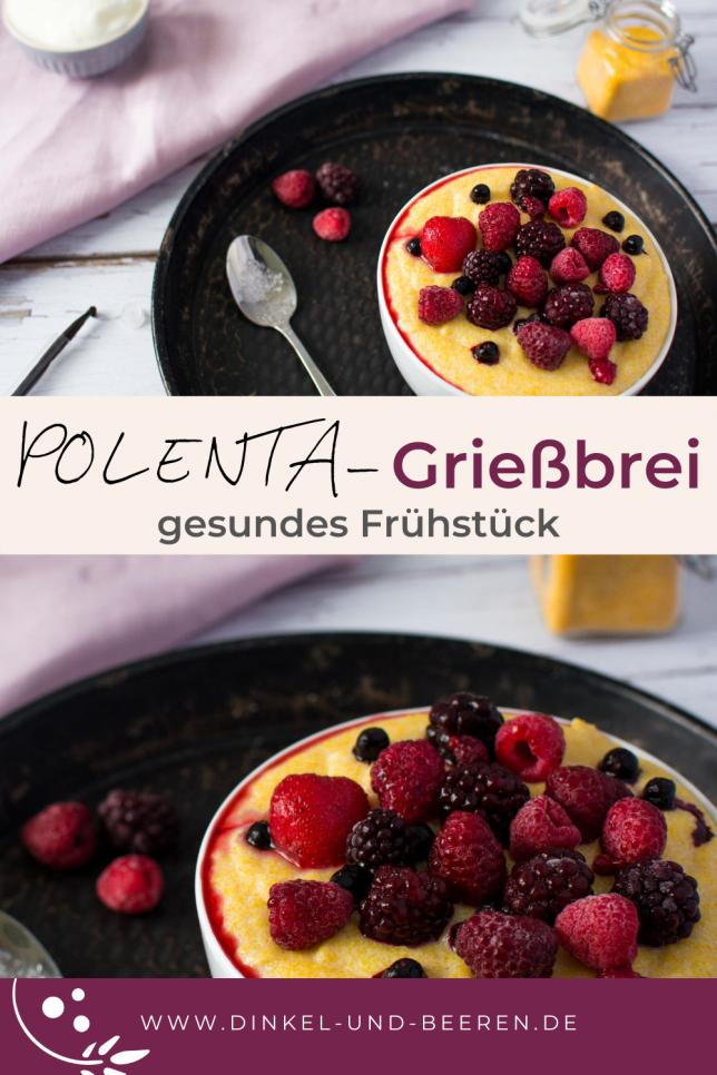 Polenta Grießbrei mit Vanille gesund glutenfrei Frühstück