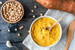 Süßkartoffel-Hummus gesund Dip Aufstrich
