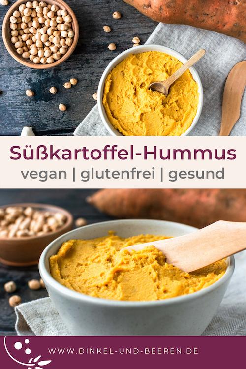 Süßkartoffel-Hummus vegan glutenfrei gesund