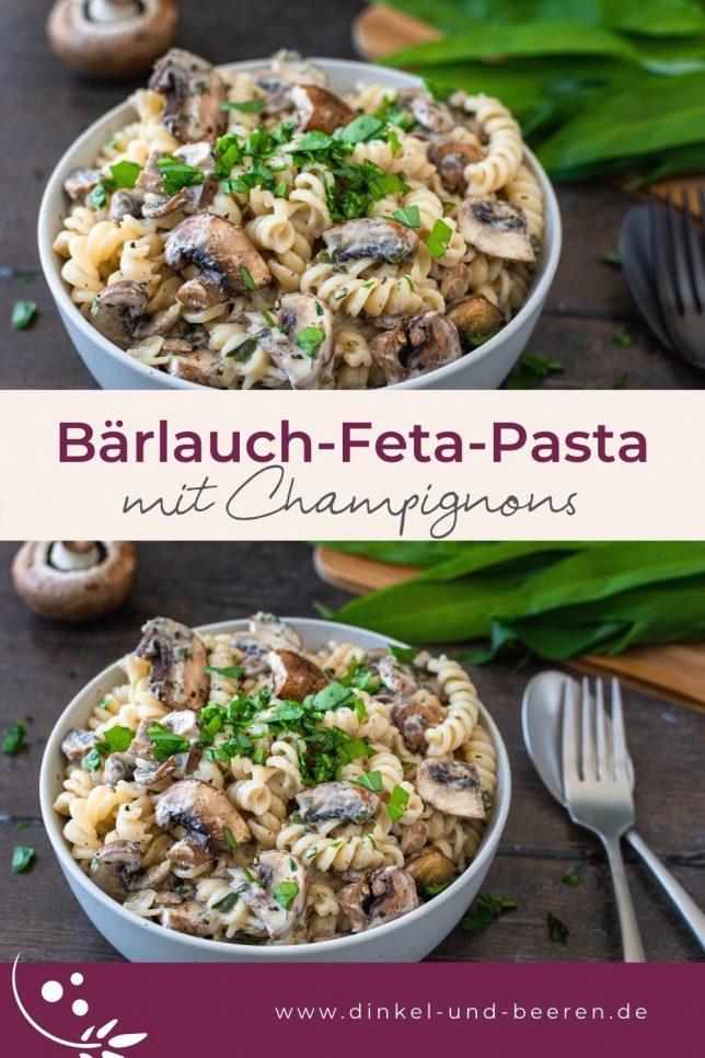 Bärlauch-Feta-Pasta Champignons schnell gesund
