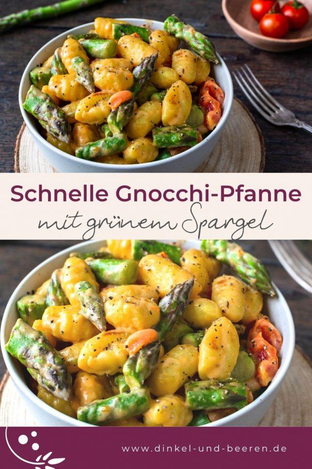 Gnocchi-Pfanne mit grünem Spargel schnell gesund Rezept