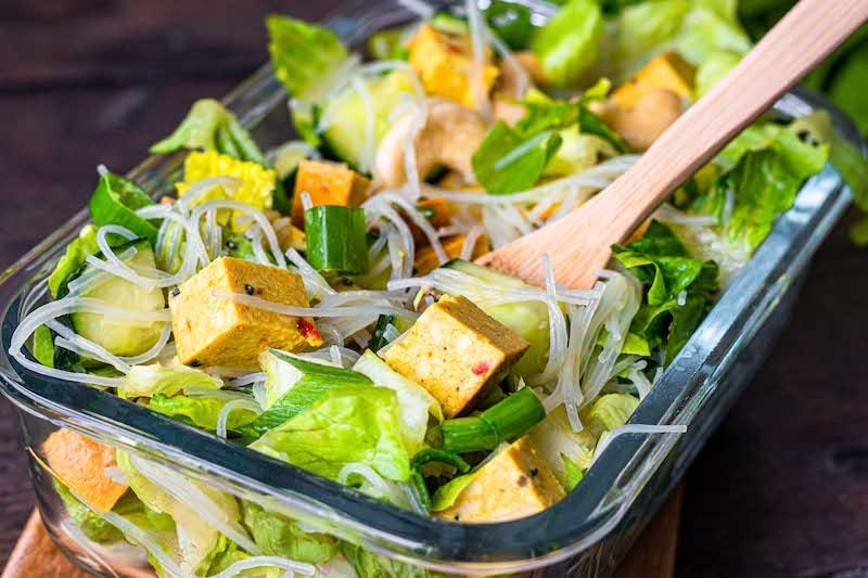 Glasnudelsalat gesundes Rezept schnell vegan vegetarisch glutenfrei