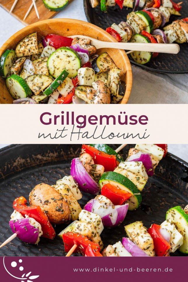Grillgemüse mit Haloumi Spieße gesund vegetarisch glutenfrei