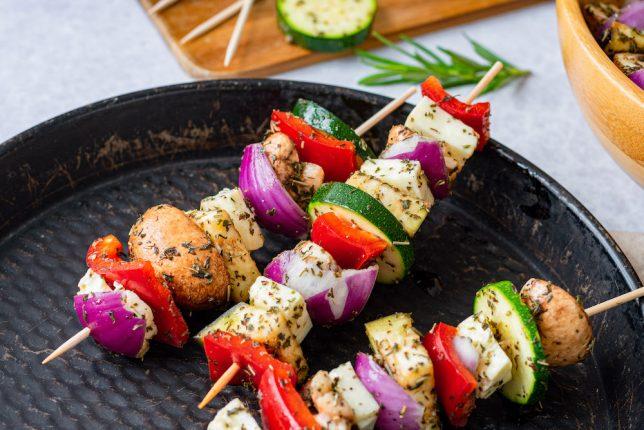 Grillgemüse mit Halloumi gesund vegetarisch