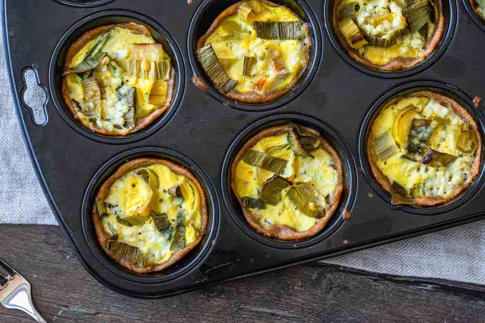 Herzhafte Dinkel-Lauch-Muffins gesund vegetarisch